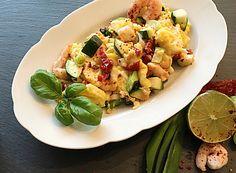 Garnelen Omelett mit Zucchini - ein wunderbares Rezept für die Abnehmphase im myfoodcoach.de-bnehmprogramm