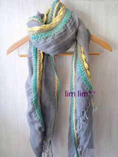 scarf with crochet edging
