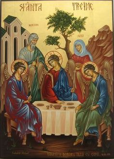 Holy Trinity & the Hospitality of Abraham by Michael Solodchi of Romania