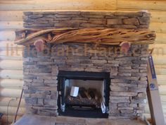 Juniper Fireplace Mantels | Timber Mantels | Rustic Mantels | Log ...