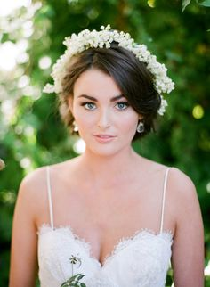 #lily-of-the-valley, #floral-crown  Photography: Jose Villa Photography - josevillaphoto.com Hair & Makeup: TEAM Hair & Makeup - teamhairandmakeupservice.com Wedding Dress: AriaDress - ariadress.com