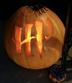My Harry Potter pumpkin:) I carved this last Halloween...that's right, me- Mandy. I did that! lol