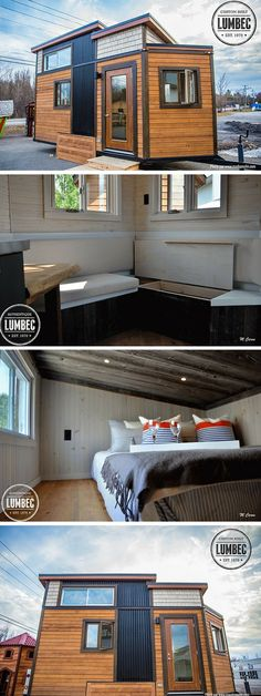 A 136 sq ft tiny house on wheels from Lumbec.