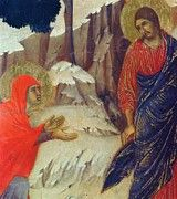 """New artwork for sale! - """" Christ Appearing To Mary Magdalene Fragment 1311 by Duccio """" - http://ift.tt/2kd2W0a"""