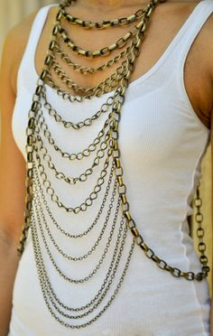 Royalty Body Chain by CanDidArtAccessories on Etsy, $130.00