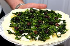 pizza with broccoli rabe and roasted onions