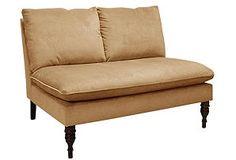 Briggs Armless Chaise, Velvet Honey