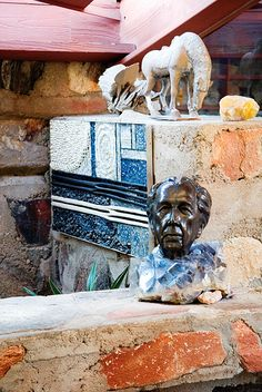 bust of Frank Lloyd Wright, Taliesin West, Scottsdale, Arizona