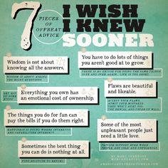 7 things I wish I knew sooner
