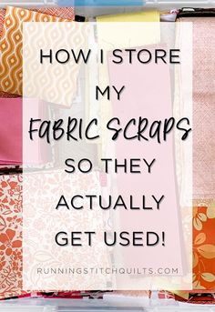 How I Store and Manage My Fabric Scraps – Running Stitch Quilts Sewing Room Storage, Sewing Room Design, Sewing Room Organization, Craft Room Storage, Sewing Studio, Fabric Storage, Ikea Sewing Rooms, Small Sewing Rooms, Small Craft Rooms