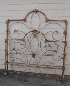 Us Army Ww1 Quartermaster Iron Bed Eagle And Military
