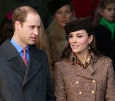The Duke and Duchess of Cambridge arrive at St Mary Magdalene Church on the Sandringham Estate in Norfolk to attend the church service on Christmas morning, 25 December 2014. © Press Association