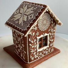 This gingerbread house was sold at a charity auction for $50. I am so happy to be a part of this event! Waiting for the next opportunity!… Cool Gingerbread Houses, Gingerbread House Designs, Christmas Goodies, Christmas Home, Art For Art Sake, Winter Wonderland, Charity, Oct 14, Auction
