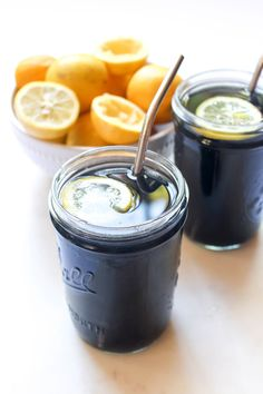 Black Lemonade This powerful detox drink tastes just like lemonade!This powerful detox drink tastes just like lemonade!Charcoal Black Lemonade This powerful detox drink tastes just like lemonade!This powerful detox drink tastes just like lemonade! Detox Diet Drinks, Detox Juice Cleanse, Detox Juices, Health Cleanse, Diet Detox, Body Cleanse, Stomach Cleanse, Detox Foods, Black Lemonade Recipe