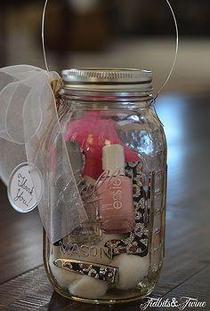 diy mason jar manicure kit and lantern, crafts, mason jars, outdoor living, repurposing upcycling, DIY Manicure Kit Lantern