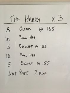 Another holiday workout from the garage.