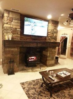 Best wood burning stove with tv above Ideas #wood