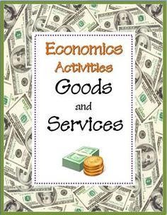FREE Print-and-Go Activity Sheets~  Goods and Services Economics and Paragraph Writing Introduction: Steps of Writing Process & Vocabulary.  Check out these free resources and more at my Teachers Pay Teachers store!