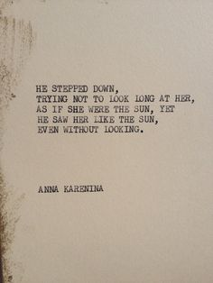THE ANNA KARENINA: Typewriter quote on 5x7 cardstock on Etsy, $6.00