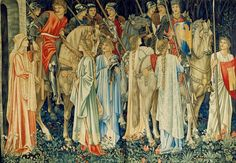 Edward BURNE-JONES - William MORRIS - John Henry DEARLE The Arming and Departure of the Knights of the Round Table on the Quest for the Holy Grail 1890-1894