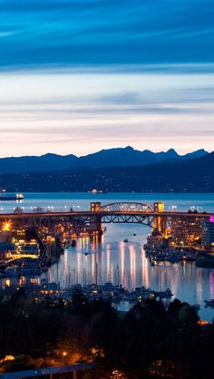 Vancouver at night, Canada