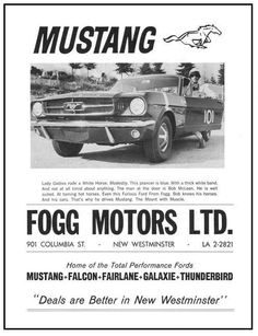 You are visting the best 1968 Shelby webpage ! Ford Mustang 1964, Mustang Cars, Car Advertising, Ads, Vintage Cars, Antique Cars, Vintage Mustang, Lady Godiva, Vintage Newspaper