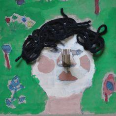 self-portrait by a first grader