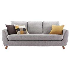 BuyG Plan Vintage The Sixty Seven Large Sofa, Marl Grey Online at johnlewis.com