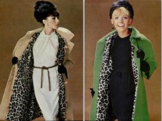 1964 style. animal print Madeleine de Rauch and Louis Feraud