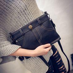 2017 новый осенний мешок пакет корейских Xiekua моды джинсовые шорты руки конверт плеча
