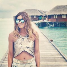 Neo Noir - the Maldives, a gorgeous pair of sunnies from none other than Le Specs. Le Specs, Maldives, Sunnies, Bikinis, Swimwear, Fans, Crop Tops, Photo And Video, Stylish