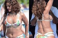 People are really believing this is actually an unedited photo from ! When it is clearly photoshopped. At least is giving people motivation! But this gotta stop Rihanna Bikini, Unedited Photos, Tracee Ellis Ross, Chubby Ladies, Bikini Pictures, Sexy Curves, Editorial Fashion, String Bikinis