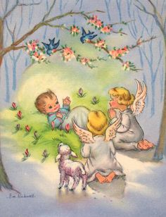 Christmas Card Images, Vintage Christmas Images, Christmas Scenes, Christmas Nativity, Retro Christmas, Christmas Pictures, Christmas Angels, Christmas Crafts, Xmas
