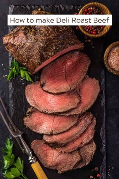 This easy Sliced Roast Beef recipe with Cilantro Chimichurri makes an amazing, easy meal! Use the leftovers to slice the beef razor-thin for perfect roast beef sandwiches. You'll get lots of tips and tricks, from how to get super tender roast beef every time to making the best roast beef sandwich ever! #roastbeefrecipe #slicedroastbeef #cilantrochimichurri #roastbeefsandwich #thewickednoodle Rare Roast Beef, Tender Roast Beef, Best Roast Beef, Sliced Roast Beef, Healthy Beef Recipes, Beef Recipes For Dinner, Lunch Recipes, Cilantro Chimichurri, Perfect Roast Beef