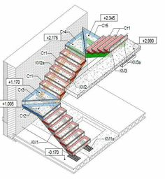 Excellent inspiring ideas to consider - Building stairs - Home Stairs Design, Railing Design, Interior Stairs, Home Design Plans, Staircase Drawing, Winder Stairs, Stair Plan, Concrete Staircase, Stair Railing