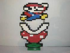 Super Mario & Piranha Plant CUSTOM NINTENDO LEGO art piece