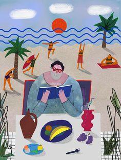 Illustrator Marina Pcheliakova's happy characters follow a range of leisure pursuits.