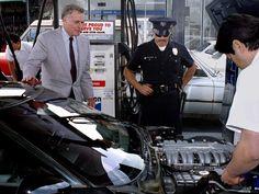 Charlton Heston and his C4 Corvette ZR-1