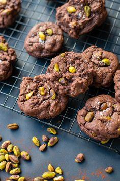 Sea salt pistachio chocolate chip cookies