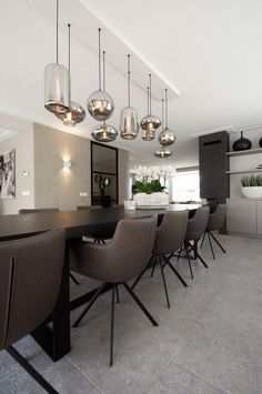 Kitchen Interior Design Modern Dining Tables 69 Ideas For 2019 Luxury Dining Room, Dining Room Design, Modern Interior Design, Interior Design Living Room, Living Room Decor, Dining Rooms, Kitchen Dining, Dining Table Lighting, Modern Dining Table