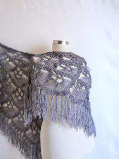 bright SHAWL scarves scarf bolero stole handmade by modelknitting, $53.00