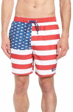 2cc2a2db0b845 (eBay Sponsored) $180 VINEYARD VINES Men's RED WHITE BLUE AMERICAN FLAG  CHAPPY SWIM TRUNKS