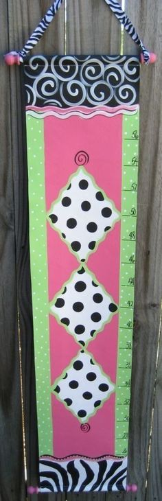 Hand Painted Growth Chart by SassyfrasDesignz on Etsy, $59.99