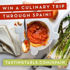 Check Spain off your bucket list! Experience firsthand the food, drink and landscape of this historic and beautiful place as you travel through its countryside. Enter at tastingtable.com/spain2014