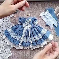 Clothes for dolls ✂️👗🎁 ( Sewing Art, Sewing Toys, Doll Patterns, Crochet Patterns, Fox Pattern, Doll Repaint, Doll Crafts, Cute Bunny, Amigurumi Doll