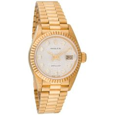 Pre-owned Rolex Diamond DateJust President 6917 Watch ($10,595) ❤ liked on Polyvore featuring jewelry, watches, accessories, bracelets, diamond watches, dial watches, automatic movement watches, diamond bezel watches and rolex wrist watch