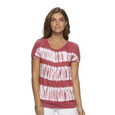Women's Chaps Tie-Dye Top, Size: