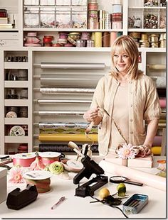 Candy Spelling ~ My gift wrapping room.