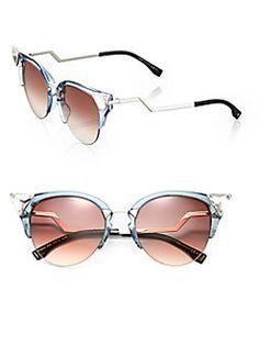 Fendi Edged Zig-Zag Optyl Cat's-Eye Sunglasses Shop