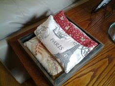 Sew up rice bags for cold evenings, keep them on a side table to heat them in the microwave, put them on your lap or put them under your blankets in bed to take the chill out.